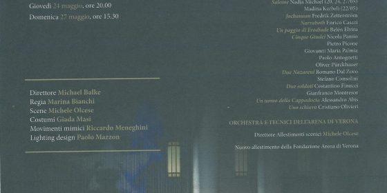 """Kainós Magazine® Salome Teatro FIlarmonico Verona_Poster"""