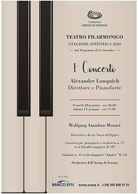 """Kainós Magazine®: Alexander Lonquich apre la stagione sinfocnica 2020 al Teatro FIlarmonico di Verona"""