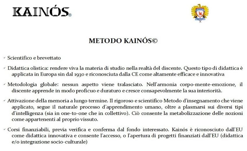 """Kainós Academy® Chi siamo e il Metodo Kainós©"""
