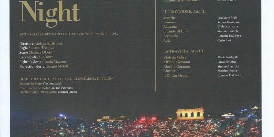 """Kainós Magazine® Arena di Verona presentazione Verdi Opera Night"""